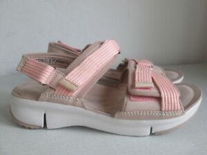 Clarks Trigenic - Tri Walk light pink/beige combi strappy sandals - size 6