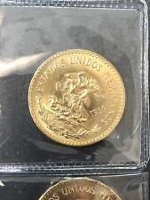 1959 20 PESOS MEXICAN GOLD COIN UNCIRCULATED VEINTE PESOS- GORGEOUS! MEXICO ORO.
