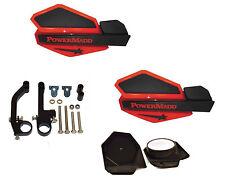 PowerMadd STAR Series Handguard Guards KIT Red Black Snow Mobile Snowmobile