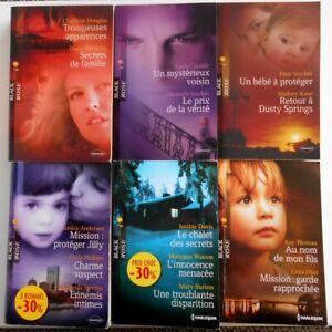 HARLEQUIN : Collection BLACK ROSE LOT de 6 livres / 14 Histoires (2007 à 2015)