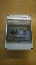 2 vías de garaje caravana cobertizo barco Mini consumidor unidad 40A 30Ma RCD 2 Mcbs Caja de Fusible