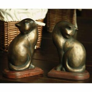 SPI Cat Bookends Pair - NOW 20% Off, bronz,
