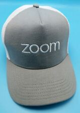 ZOOM VIDEO CONFERENCING gray / white adjustable cap / hat