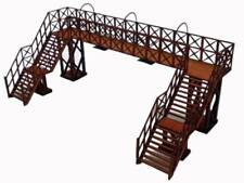 Ancorton Models Double Track Platform Footbridge - Laser Cut Wood Kit OO Gauge
