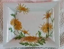 GEORGES BOYER Limoges France ALEXA Plate White Porcelain Yellow Flowers 7.5 x 6