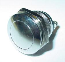 edelstahltaster,Pulsante campanello,19mm,1-polig,chiusura,testa a fungo 250V /