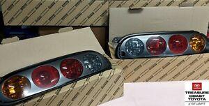 NEW OEM TOYOTA SUPRA JZA80 1997-1998 BLACK TAIL LIGHT 2PC SET UPGRADE