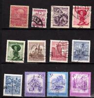 Autriche - Depuis 1908 - Petite collection - 12 timbres oblitérés