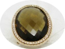 K101576  Extravaganter Damenring 750/18k Rotgold Gr.48 Citrin Diamant Zertifikat
