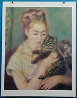 "Auguste Renoir ""Woman with a Cat"" Print in 50 French Impressionist Masterpieces"