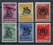 38158) INDONESIA 1960 MNH** World refugees year 6v