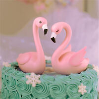 Lovely Pink Flamingo Cake Topper For DIY Wedding Party Birthday Home Cake Decor