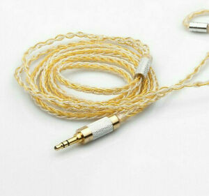 MMCX 2.5mm 8 Share 25 Cores OCC Gold plated cable Wood Case shure se846 ue900
