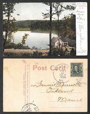 1906 Maine Postcard - Joe's Hole on Sommerset Railroad