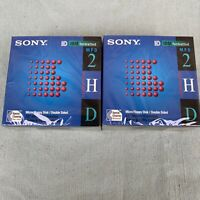 """Sony MFD 2HD Box 1995 New Old Stock 3.5"""" Floppy Disk Floppies 1.44MB Lot 2 Boxes"""