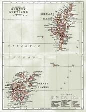 A reproduction  Map of The Counties  of Orkney & Shetland original dated 1880.
