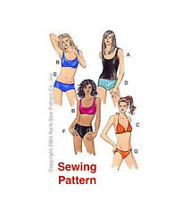 Kwik Sew K3239 Pattern Misses Swimsuits XS-XL BN
