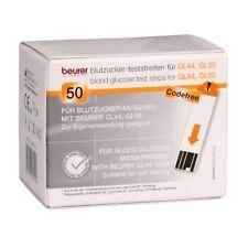 50 Beurer Teststreifen für Beurer GL44/GL50 Blutzuckermessgerät MHD 10/2020