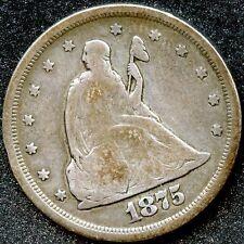 1875-S (F) 20C SILVER TWENTY CENT PIECE