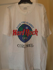 Hard Rock Cafe (Knockoff) Save The Planet, Cozumel, White SS T-Shirt XL-Preowned