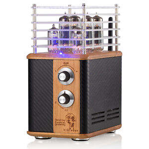 HiFi Vintage Vacuum Tube Amplifier Bluetooth 5.0 Receiver Desktop Home Audio Amp