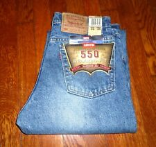 LEVIS VINTAGE 550 MADE IN USA IN 1995 RED TAB RELAXED TAPERED LEG JEANS 31x34