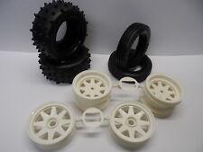 "New Tamiya ""Grasshopper II/2"" Front + Rear Wheels + Tyres/Tires Full Set"