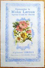 1900 Chicoree/Moka Advertising w/Victorian Diecut Scrap: Flower Bouquet - 3