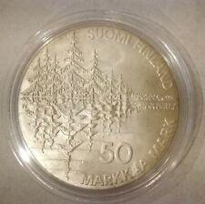 Finland 50 Markkaa 1985 Kalevala Silver