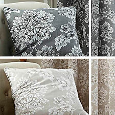 Catherine Lansfield Toile Damask charcoal cushion cover