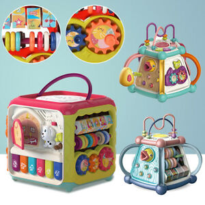 Early Learning Baby Toy Baby Activity Cube Musical Lights Toys 7 in 1 Play Cente