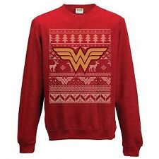 Official Wonder Woman Christmas Fair Isle Xmas Jumper S