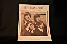 THE BEATLES ORIGINAL 1964 SHEET MUSIC Eight Days A Week Guitar/Piano Vintage