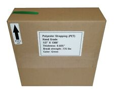 """Portable 1/2"""" Polyester Strapping, Replacement Coils in Self Dispensing Carton"""