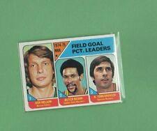 1975 Topps Basketball Set FIELD GOAL PCT. LEADERS Card # 2 NICE! NELSON BEARD