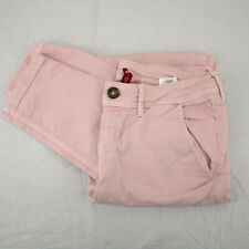 Vtg H&M DIVIDED Pink Tapered Leg Chinos Pants Women's 6 30X28