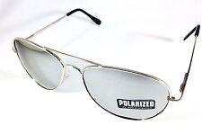 New Polarized Mirror Silver Chrome Sunglasses Unisex Anti Glare Aviator Retro US