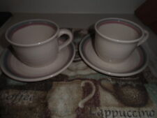 PAIR OF AURA PINK PFALTZGRAFF CUPS & SAUCERS NICE NO CHIPS HOT COFFEE TEA COCOA