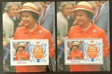 More details for st. lucia. queens 60th birthday. perf & imperf sheet mnh. (msc915)