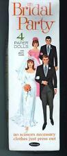 Vintge 1968 Bridal Party Paper Dolls ~Whitman~Uncut Org Sz Lasr Repro No1 Seller