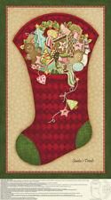 SANTA'S TREATS CHRISTMAS STOCKING FABRIC PANEL