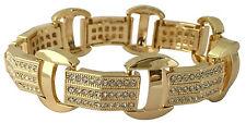 "Mens Hip Hop 14K Gold Plated CZ Iced Bling Kodak Black Jewelry Bracelet 8.5"" S#1"
