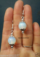 Stunning natural moonstone Dangle Silver hook Earrings