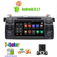 """For BMW E46 /320/325 7"""" GPS Android 5.1 Car Standard Radio DVD Player OBD2 DAB+"""
