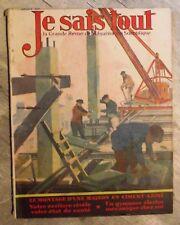 Magazine JE SAIS TOUT sciences populaire antique french mag 1929 ciment armé