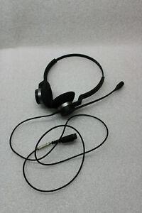 Jabra Headset schwarz DUO Stereo QD-Stecker ohne Adapter gebraucht