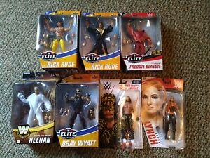 WWE ELITE AND BASIC MATTEL LOT BECKY RUDE MACHO MAN BLASSIE HEENAN FIEND