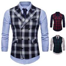 Men's Business Vest Suit Accessory Sleeveless Slim Fit Outfit Waistcoat Coat New