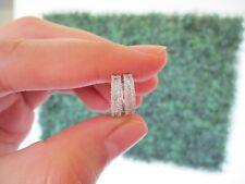 ".28 CTW Diamond Clip Earrings 18k White Gold  JS559E sep ""SJ"""