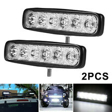 2Pcs Led Work Light Bar 6 Inch 12V Driving Strip Spot Beam Suv Offroad For Jeep